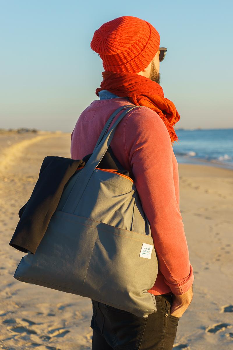 Image of a grey tote bag
