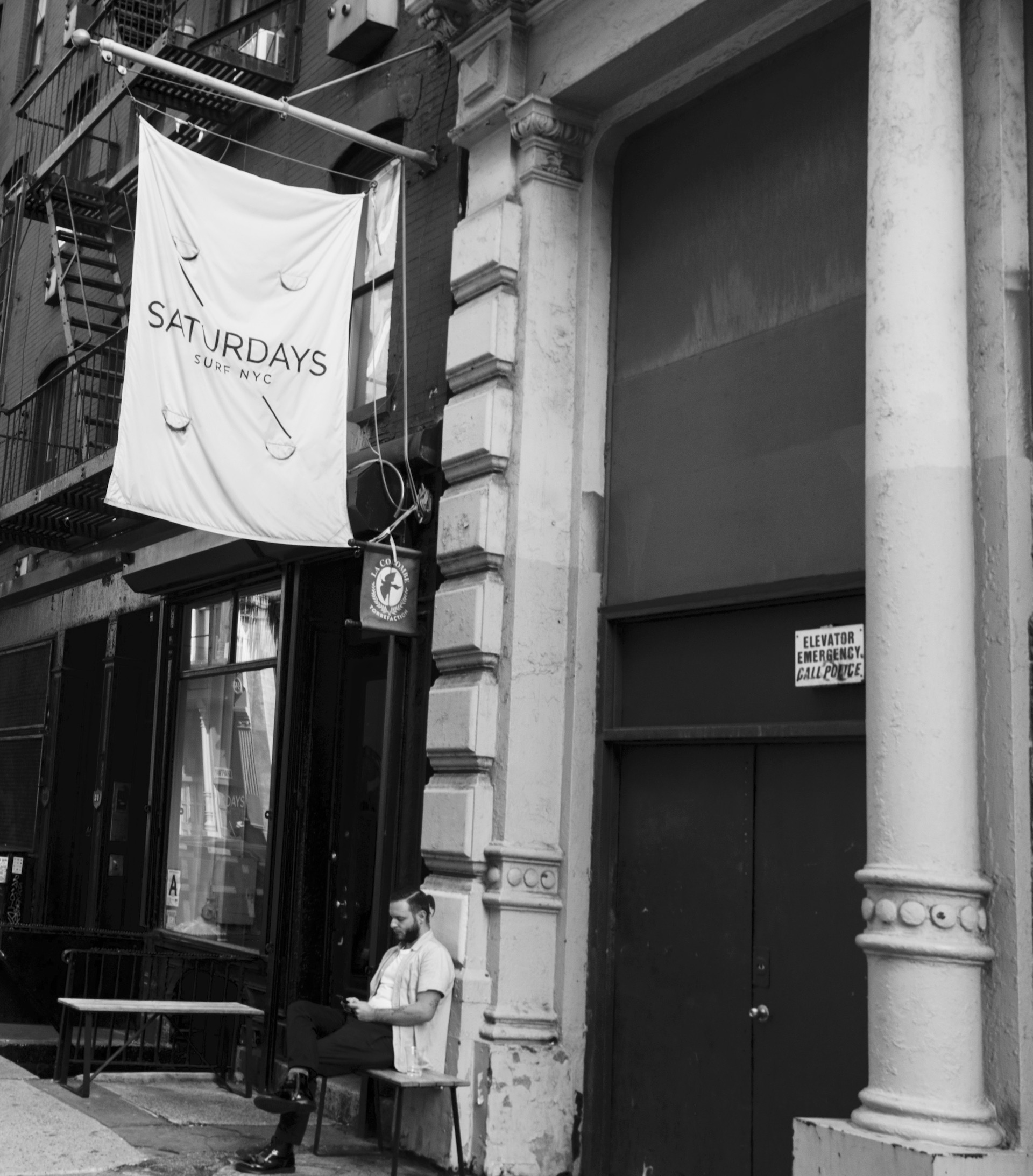 Image of an entrance to Saturdays NYC Crosby Street shop