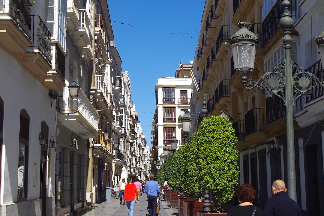 A picture of old town in Cadiz