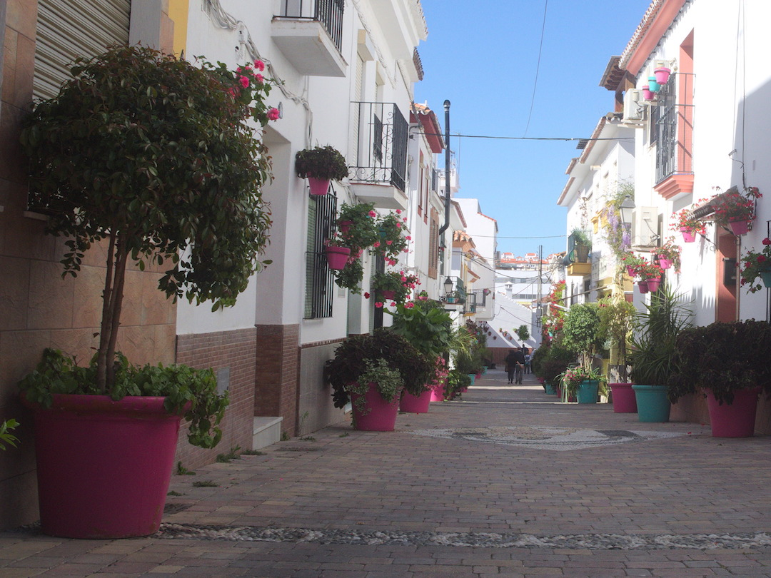 A picture of street in Estepona