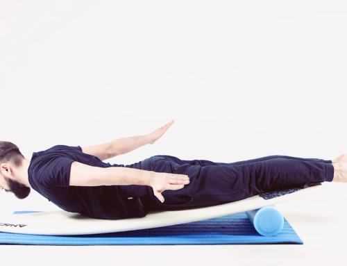 Surfing workout: posture and balance