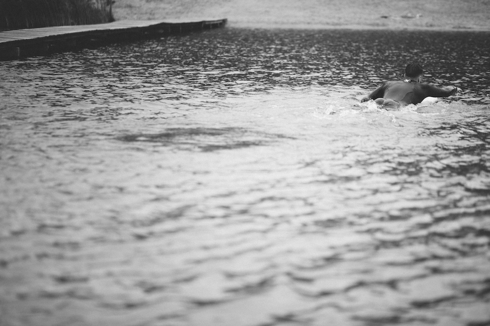 Picture of a surfer who paddles
