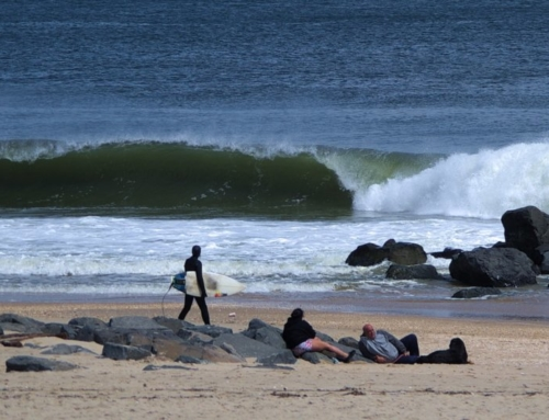 New Jersey spring surfing