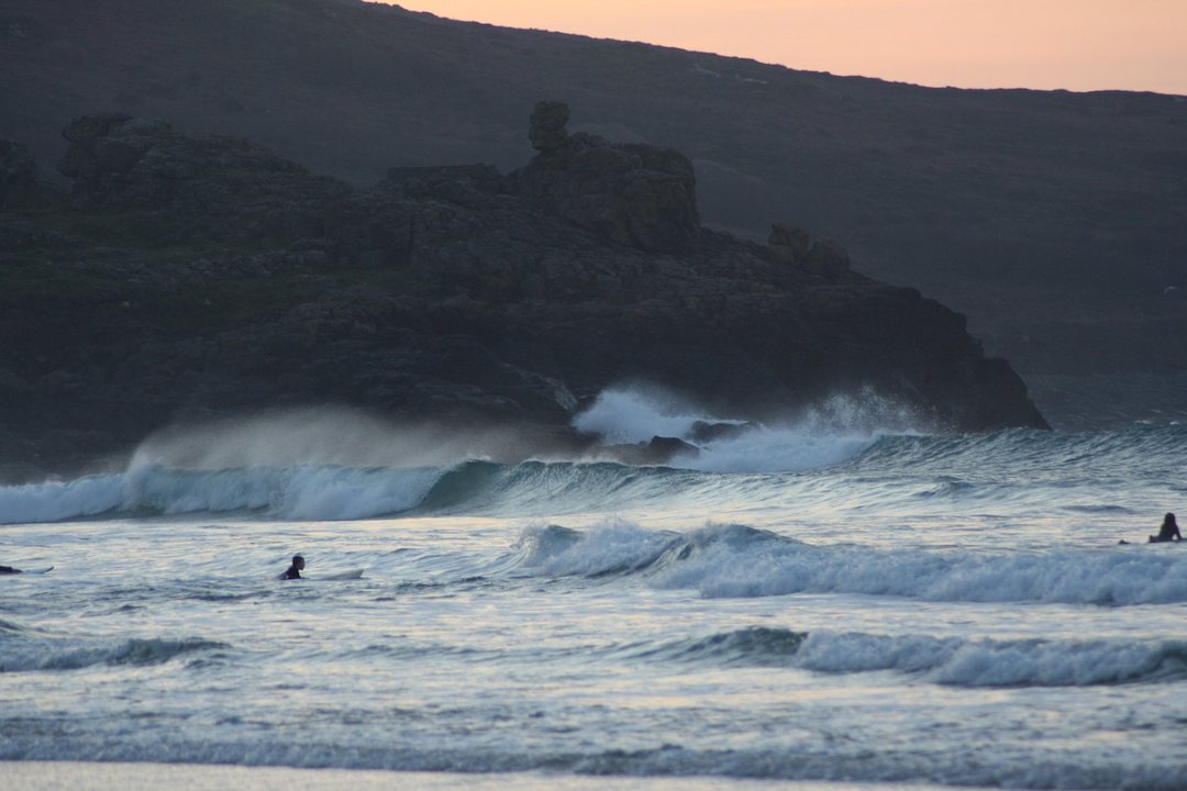 Porthmeor surfing