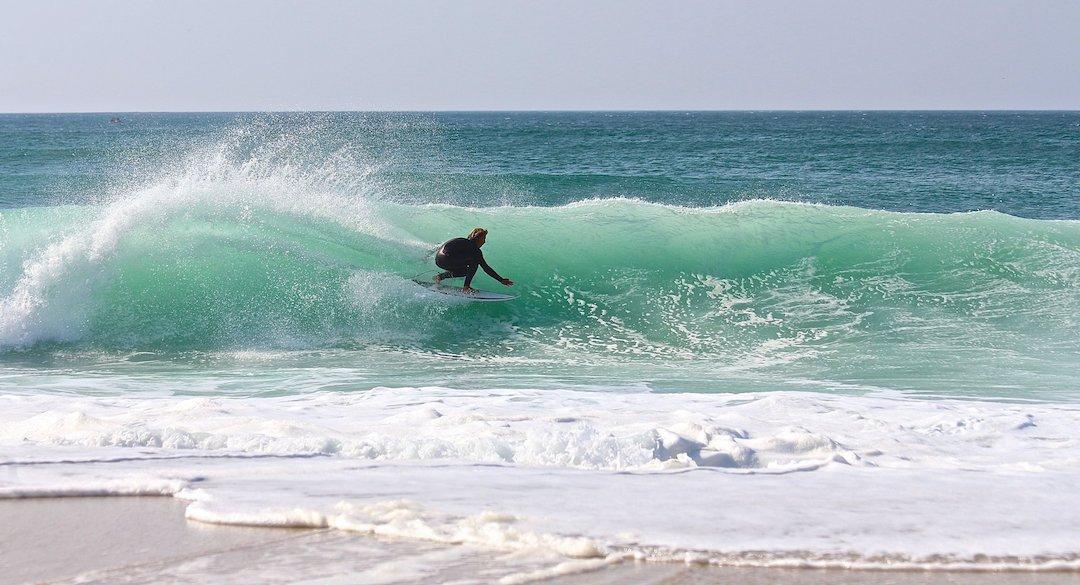 Sennen Cove surfing