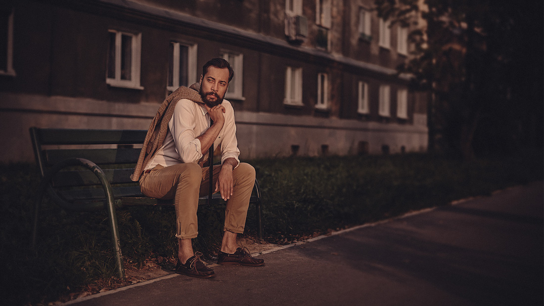 Son of a Beach blogger in a unique photo session in Nowa Huta, Cracow